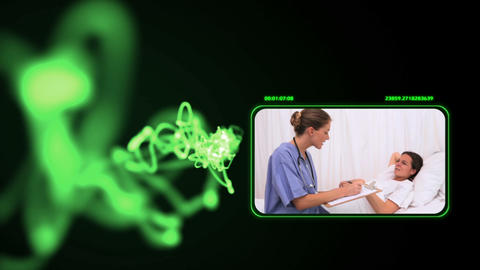 Medical videos with a green light Animation