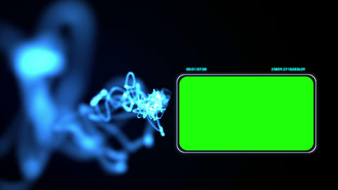 Chroma key screens with blue light Animation