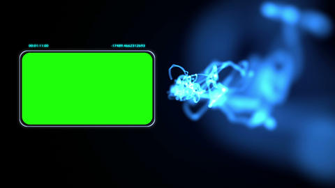 Chroma key screens with blue light Stock Video Footage