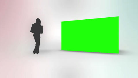 Leisure animation with silhouette Animation
