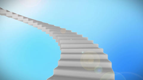 Stairs with videos of architects Animation