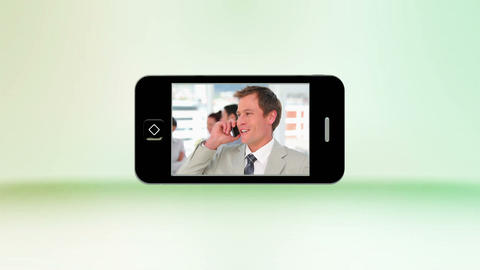 Videos of business people on the phone on a smartp Animation