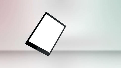 Tablet computer with a blank screen Stock Video Footage