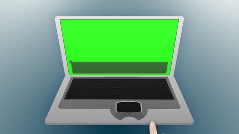 Laptop in chroma key Animation