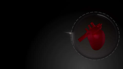 Video of a heart beating against black background, Stock Animation