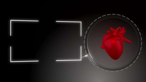 Video of a heart beating against black background Stock Video Footage