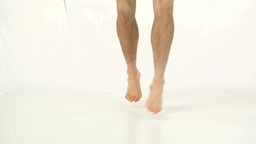 Sportsman jumping with a skipping rope Footage