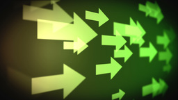 Video of multiple green arrows Animation