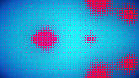 Video of blue and pink dots Animation