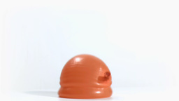 Orange balloon falling in super slow motion Stock Video Footage