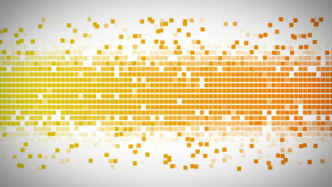 Yellow and orange square moving fast Animation