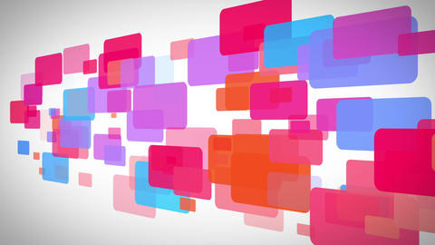 Rectangle of colorful rectangle moving Animation