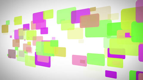 Yellow green and purple rectangles moving Stock Video Footage