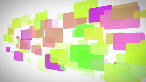Yellow green and purple rectangles moving Animation
