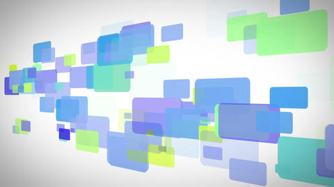 Blue green and yellow rectangles moving Stock Video Footage