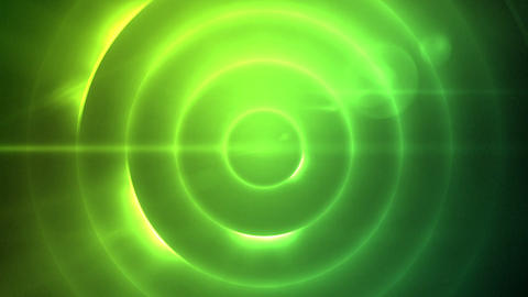 Moving circle of flashing green lights Stock Video Footage