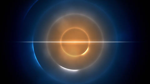 Blue and orange circles with a line in the middle Stock Video Footage