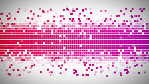 Red and pink squares moving fast Stock Video Footage
