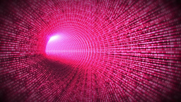 Tunnel of pink light Stock Video Footage