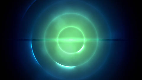 Blue and green circles with a line in the middle Stock Video Footage