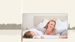 Videos of families on a bed Animation