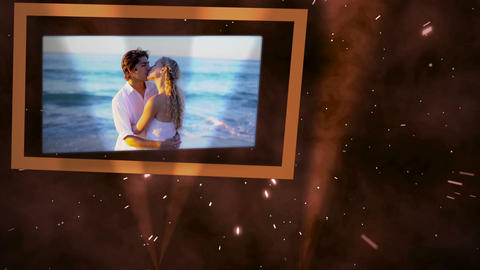 Videos of couple on the beach Animation