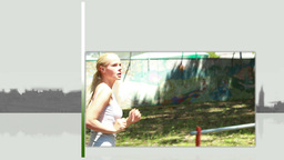 Videos of a blonde woman running Animation