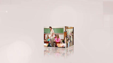 Videos of pupils on cubes Stock Video Footage