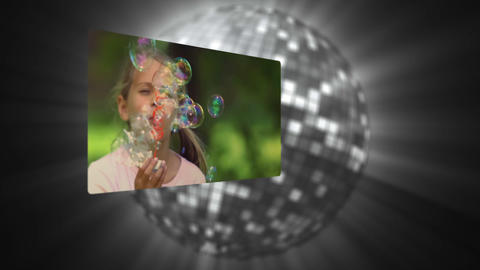 Videos of children in slow motion Stock Video Footage