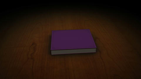 Violet book with children Stock Video Footage