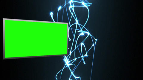 Video of green screens with light beams Animation