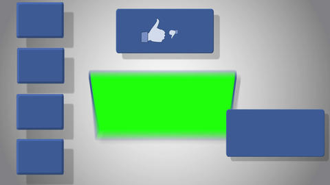 Video of green screen with social media symbol Animation