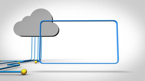Video of frames connected to a cloud Animation