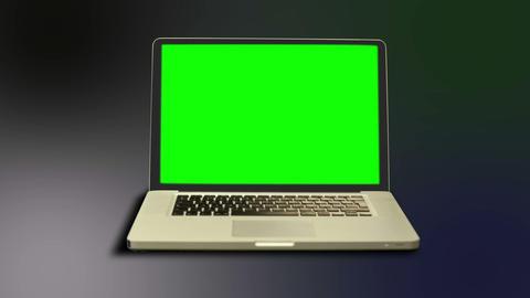 Chroma key on a laptop Animation