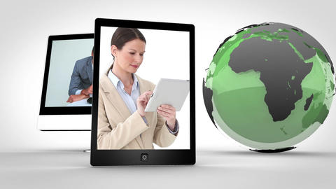 Video of business with a green Earth image courtes Animation