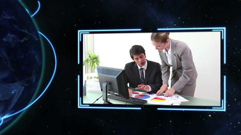 Business videos with Earth image courtesy of Nasa. Animation