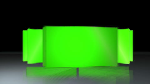 Succession of chroma key Animation