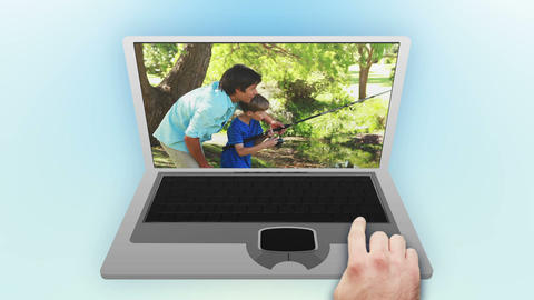 Families videos in a park Animation