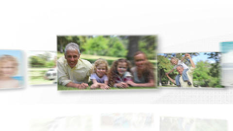 Video of joyful family outdoors Animation