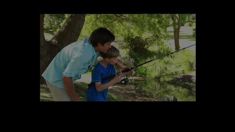 Video of father and son Stock Video Footage