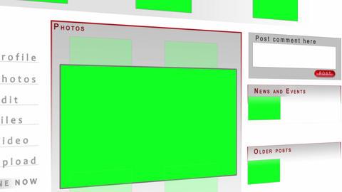 Chroma key screens on a website Stock Video Footage