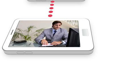 Business videos on a mobile phone Stock Video Footage