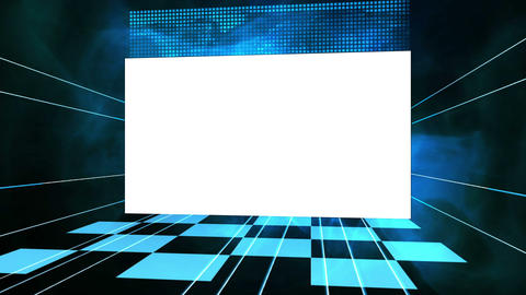 Video of a screen against a blue background Animation