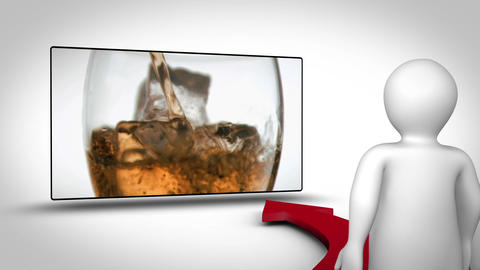 Video of breakfast alcohol and sport Animation