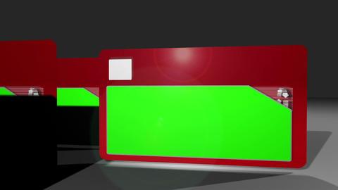 Chroma key screens on folders Animation