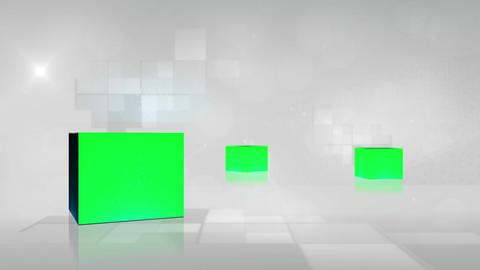 Cubes with chroma key turning Animation