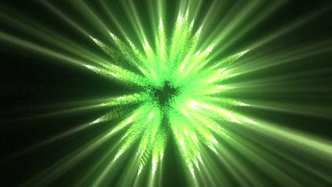 Green lines of fluorescent lights Footage