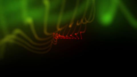 Moving blurred form of green and orange lights Stock Video Footage