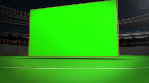 Chroma key screens on a stadium Animation