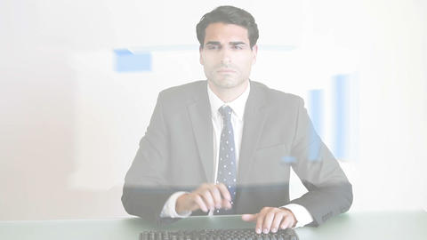 Business people working with charts Stock Video Footage